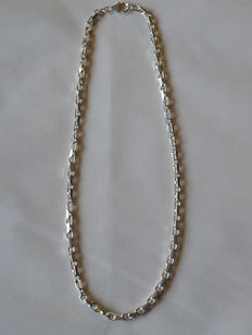 925 Silver necklace  Weight: 40.58 g. Length: 50.5 cm.  Width: 4.53 mm.