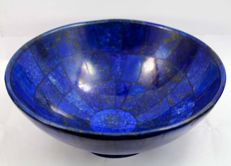 Hand-crafted, high quality Lapis Lazuli bowl - 147 x 69mm - 410gm