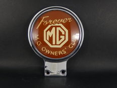 Vintage Chrome Auto Car Badge Forever MG  MG Owners Club
