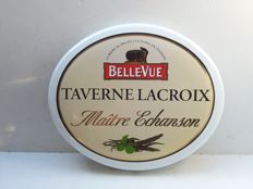 Taverne lacroix belle vue - enamel sign from Belgium - 1980