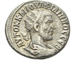 Roman Empire - Philip I, 244-249 Tetradrachm circa 244, AR