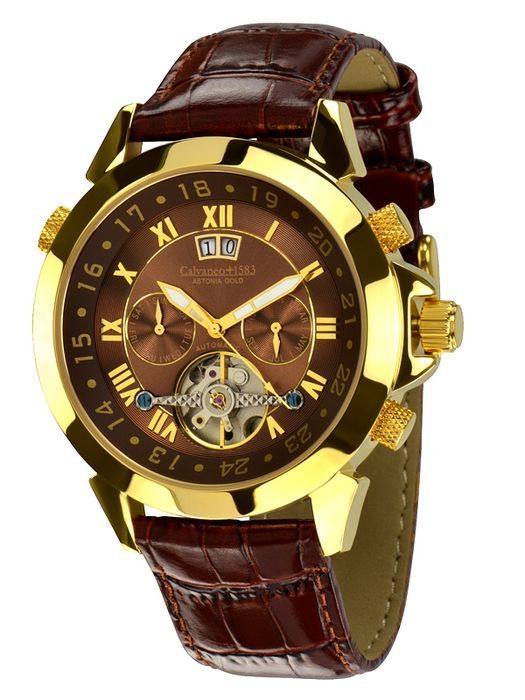 "Calvaneo 1583 — Astonia ""Brandy Brown"" 18 kt gold-plated — men — 2011-today"