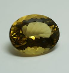 Citrine, brownish-yellow,  35,03ct, no reserve