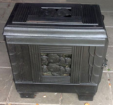Antique French Stove, Rosieres Cita, no. 310, Art Deco top loader, 1936