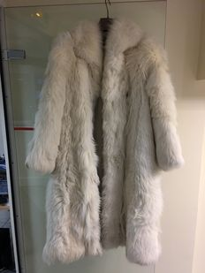 Silver coloured fox fur coat, Paris Creations.