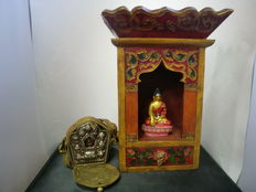 House altar and Ghau – Tibet – late 20th century