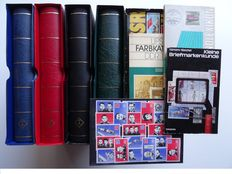 GDR of East Germany 1949/1990 - complete collection of postage stamps in four Leuchtturm albums + publications.