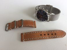 """Björn Hendal Chronograph Steel """"Varberg"""" Milanese with extra strap"""
