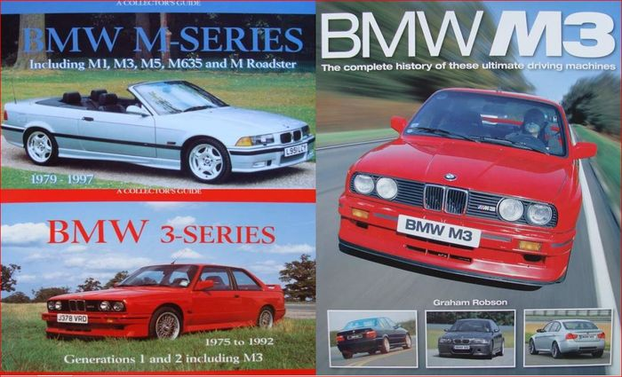 3 books : BMW M3 & BMW M Series 1979 - 1997 & BMW 3-series 1975 to ...