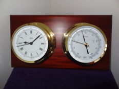 Barometer and clock by Barigo in nautical style.