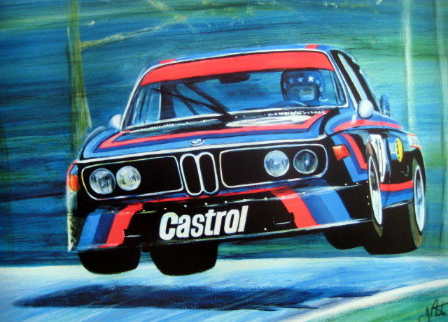 "Fine Art Print - ""King of the Nürburgring"" Hans Stuck/BMW CSL - 6 Hours Nürburgring 1974"