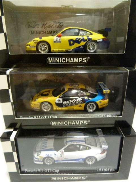 Minichamps - Scale 1/43 - 3x Porsche 911 (997) Carrera / Supercup