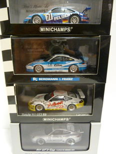 Minichamps - Scale 1/43 - 4x Porsche 911 Race models