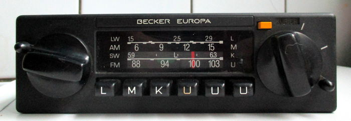 nice car radio becker europa 598 1980 catawiki. Black Bedroom Furniture Sets. Home Design Ideas