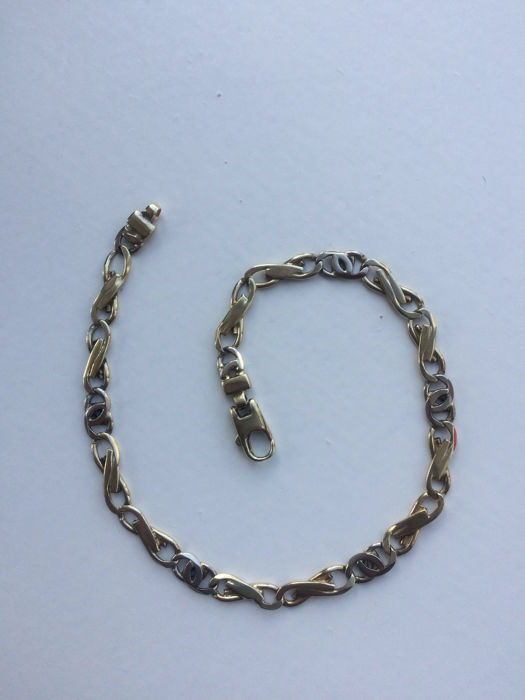 14 kt Yellow and white gold bracelet - 22.5 cm