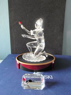 Swarovski - Annual Edition Harlequin with plaque and display.