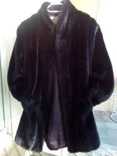 Mink-style fur coat, medium/long Affinités Collection