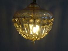 Venetian bag chandelier with tinted glass, early 20th century