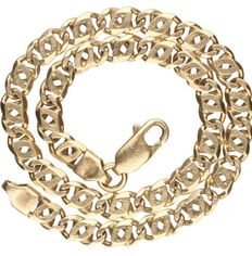 Yellow gold curb bracelets of 14kt , length 19cm