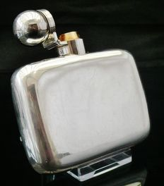 Antique Silver Hip Flask, London 1884