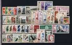 France, years: 1960-1973 - 14 complete years - Yvert 1230 to 1782