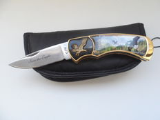 "Franklin mint limited edition decorative knife, ""save the eagle"", with sleeve"