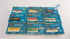 PECO - nine construction kits of goods wagons, two of which in built form