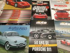 Lot of 6 documents about cars of the 1950s, sport cars, Ferrari and Porsche