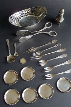 Silver-plated lot of silverware