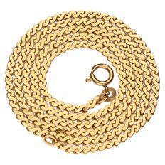 14 k yellow gold s-link necklace - length: 51 cm