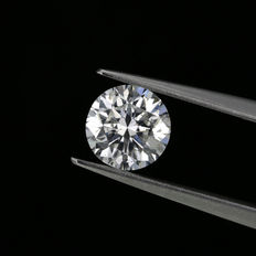 1.01 ct. round brilliant cut diamond F I1