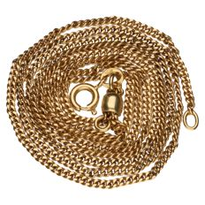 Yellow gold curb link necklace in 14 kt Length: 61 cm