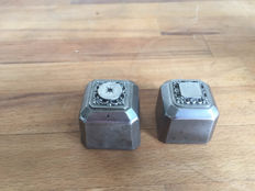 2 beautiful antique French factory stamps - approx. 1900 - France