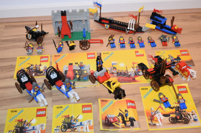 Classis Castle - including 6012 + 6040 + 6049 + 6011 + 6039 + 6016 + 6018 - Viking Voyager + Blacksmith Shop etc.
