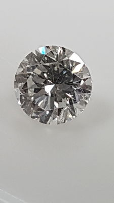 0.46 ct - Round Brilliant - White - D / SI2 - No minimum price