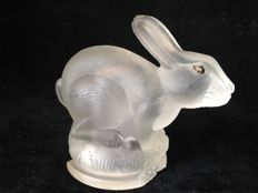 Hood mascot, ornament. Glass bunny circa 1920