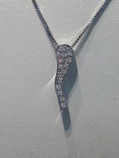 Salvini – Necklace with 18 kt white gold pendant and diamonds