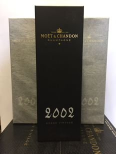 2002 Moët & Chandon Grand Vintage Collection, Champagne - 3 bottles (75cl) in original cases