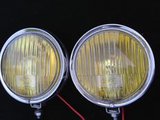 Early Hella 140 rally fog lights filament lamp version - 1960