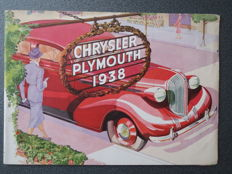 Original brochure - catalogue Chrysler-Plymouth models 1938
