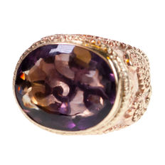 Amethyst, Gold Ring ca 1930