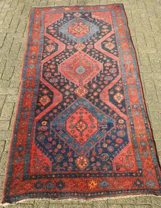 Hand-knotted Persian carpet - 126 x 270 cm - Kurdish Nothern Iran - 1st half 20th century