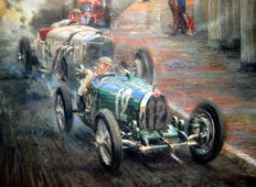 """Bugatti Racing Green"" 1st Monaco Grand Prix 1929 - Limited Edition"