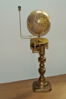 Brass 'Orrery clock' from 1950