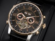 Calvaneo 1583 Valencia rose gold steel complication – men's watch – new