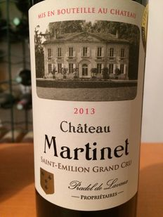 2013 Château Martinet, Saint-Emilion Grand Cru - 12 bottles