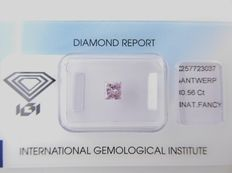 **Natural Fancy Pink Diamond 0.56 ct  with IGI cert ***No minimum price***