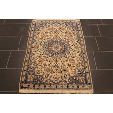 Royal handwoven Persian palace carpet. Nain with silk 130 x 90 cm, made in Iran