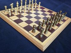 Vintage design chess made of bronze, 1955