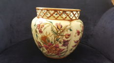 Zsolnay handpainted cache pot.